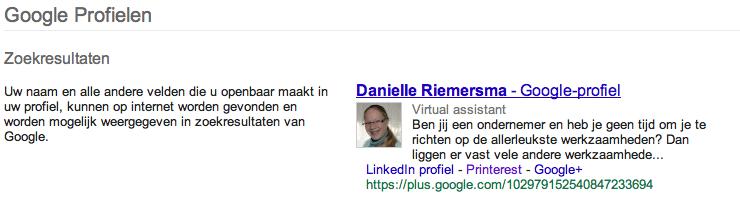 Google+ zoekresultaten