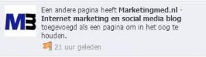 Facebook pagina in het oog houden