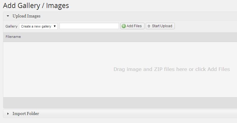 Add Gallery NextGEN plugin