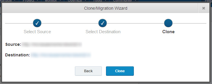 ManageWP Clone and Migration 3