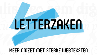 Letterzaken logo met tagline