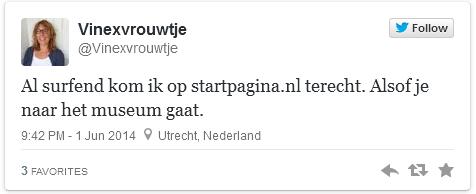 Al surfend kom ik op startpagina.nl terecht. Alsof je naar het museum gaat.