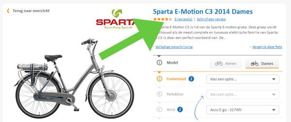 fietsenwinkel.nl sociale bewijskracht