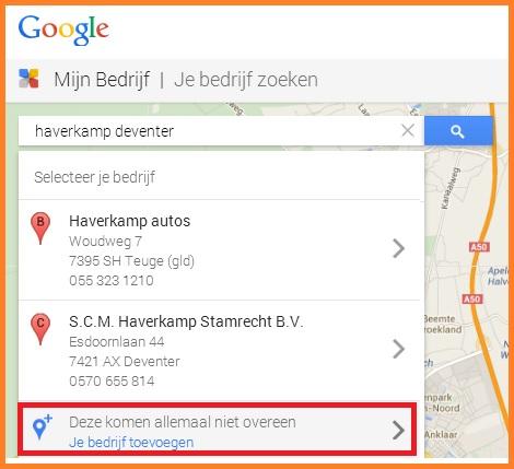 google je bedrijf zoeken