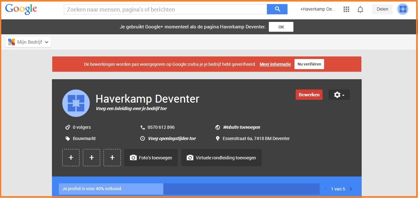 google mijn bedrijf je bedrijf verivieren