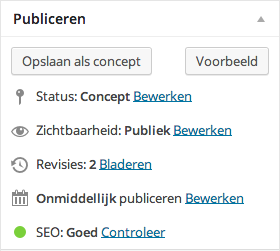 Yoast WordPress SEO plugin - groen bolletje