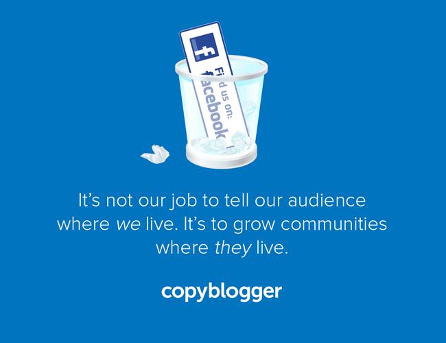 Copyblogger verlaat Facebook