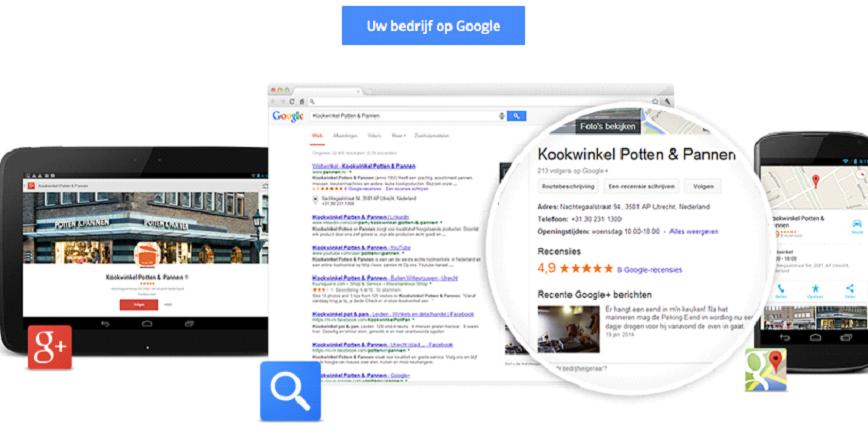 Google mijn bedrijf voor retailers