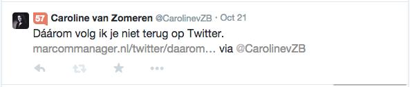 Twitter bericht zonder plaatje