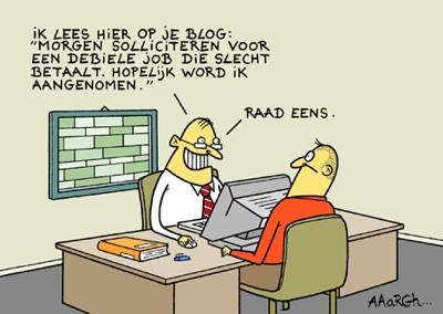 Werklozen via Social media