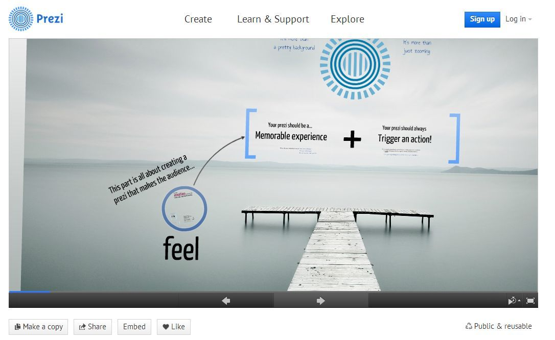 how to download prezi presentation of others