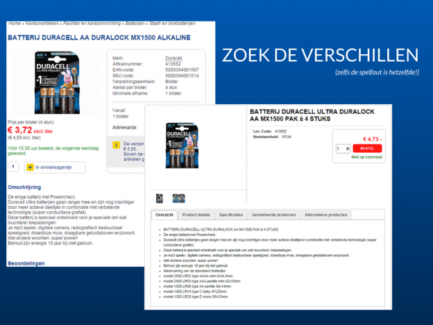 Duplicate content in webshops