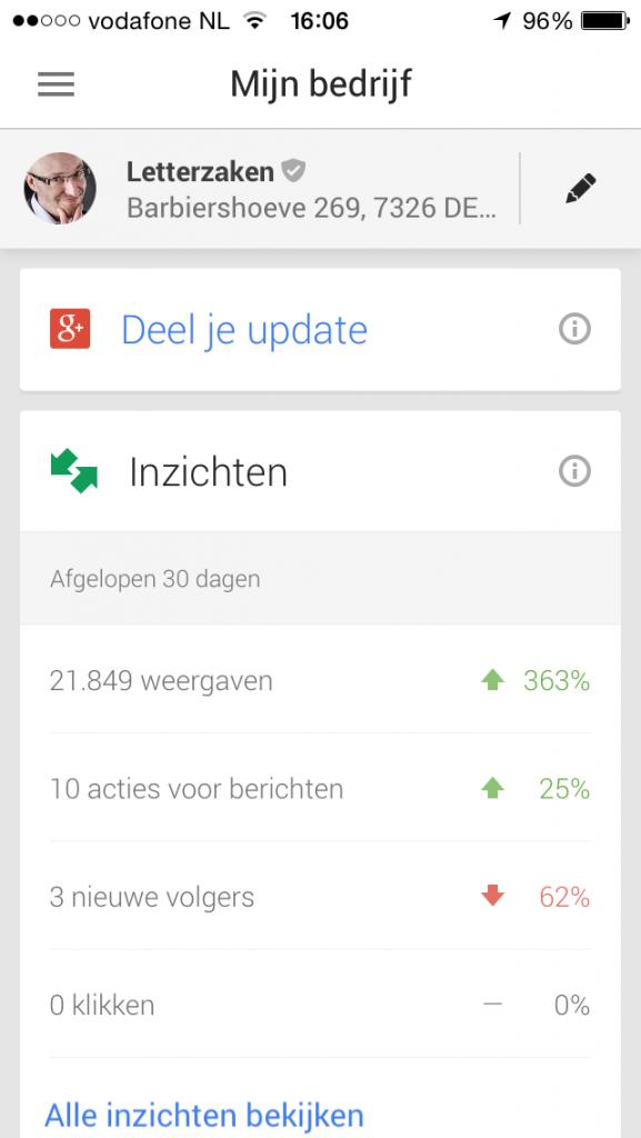 Statistieken Google Mijn Bedrijf