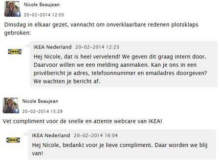 Facebook Webcare IKEA