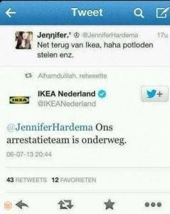 Twitter Webcare IKEA