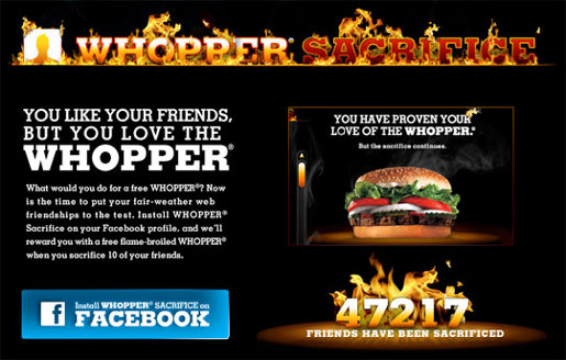 Unieke marketingcampagne Burger King