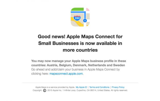 Apple Maps Connect Nederland Belgie