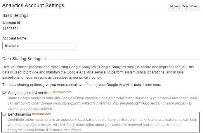 Benchmarking in Analytics