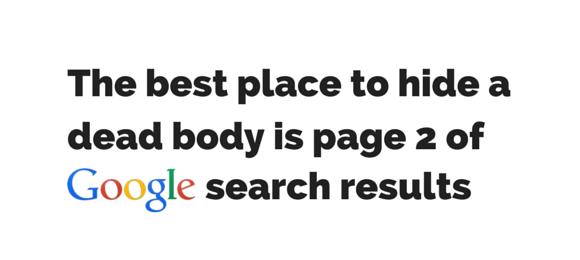 Wie kijkt er nog op pagina 2 van Google?
