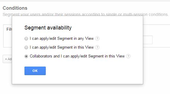 Segment Google Analytics bewerken door andere