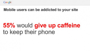Mobiele telefoongebruikers verslaafd