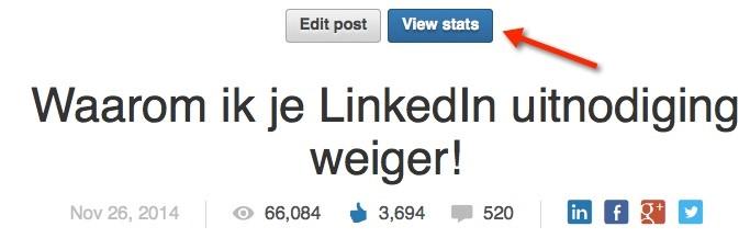 Statistieken LinkedIn geven veel informatie
