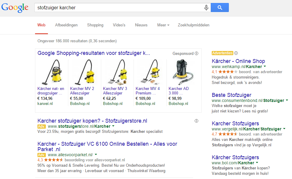 Stel Google Shopping in
