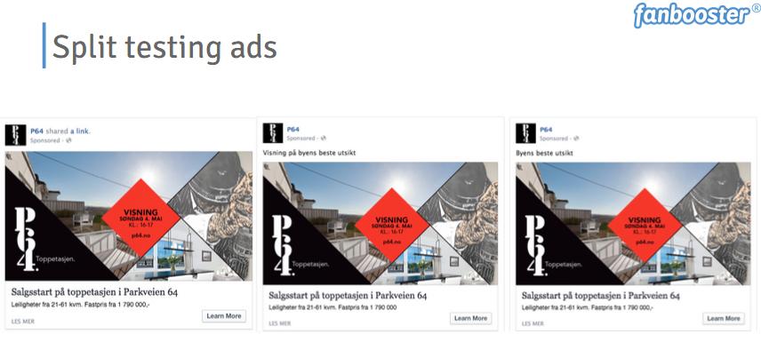 Split testen Facebook Advertenties