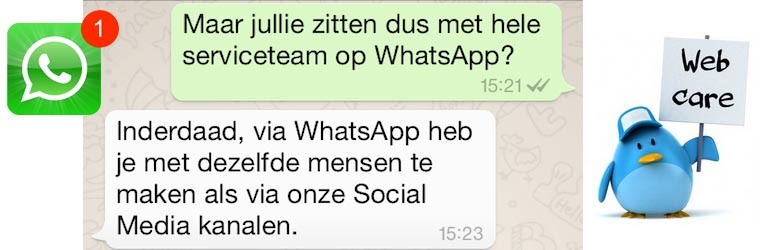 Webcare via WhatsApp