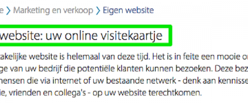 Je website als online visitekaartje ? No way!