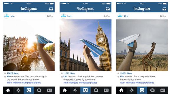 KLM Instagram adverteren inspiratie