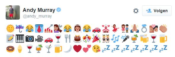 Tweet vol met emoji