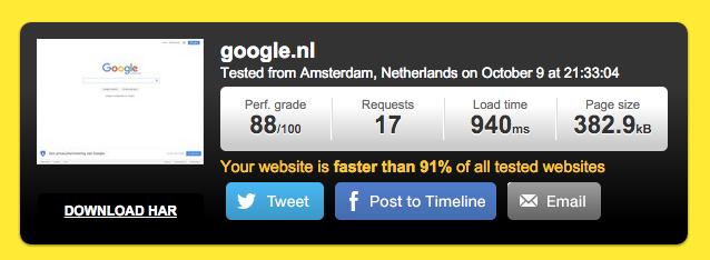 Normale website versie zonder AMP HTML