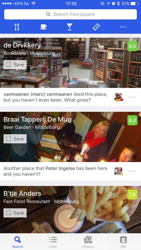 Bedrijf aanmelden op Foursquare