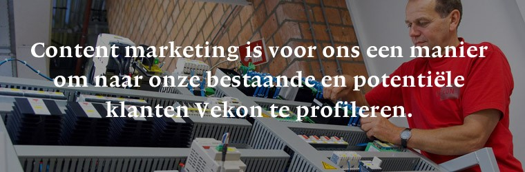 Content marketing bij Vekon