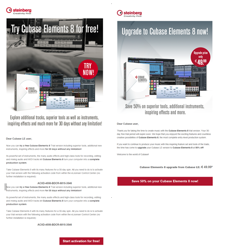 Upsell Emailmarketing